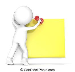 appiccicoso, giallo, note.