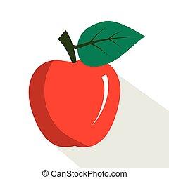 apple., frutta, succoso, maturo