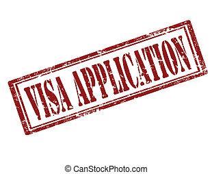 application-stamp, visto