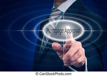 approvazione, prestito, concetto, ipoteca