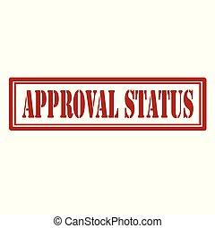 approvazione, status-stamp
