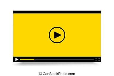 apps., video, mobile, sagoma, appartamento, web, giocatore