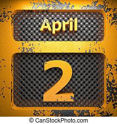 aprile, 2, acciaio, dipinto