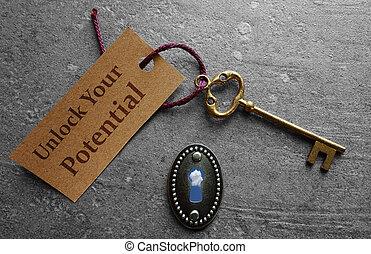aprire, potenziale, tuo