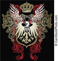 aquila, araldico, emblema