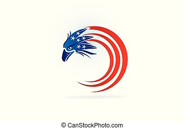 aquila, logotipo, simbolo, bandiera