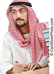 arabo, concetto, educazione, giovane
