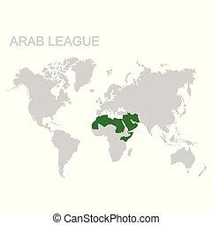 arabo, mappa, lega