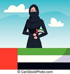 arabo, nazionale, unito, emirati, giorno