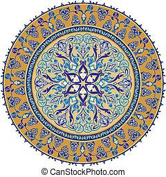 arabo, ornamento, classico