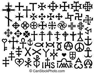 araldico, croci, cristiano, monogrammi