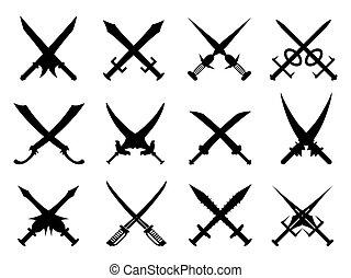 araldico, set, spade