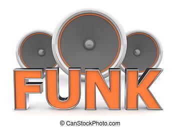arancia, altoparlanti, funk, ?