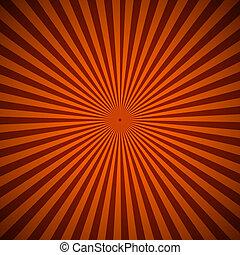 arancia, astratto, raggi, fondo, radiale