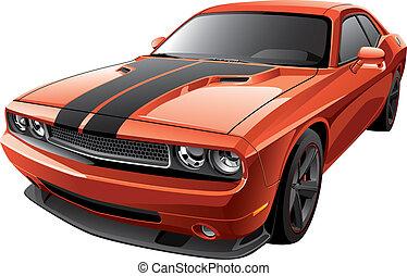 arancia, automobile, muscolo