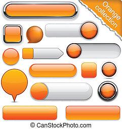 arancia, buttons., high-detailed, moderno