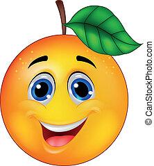 arancia, carattere, cartone animato