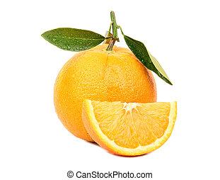 arancia, frutta, fetta