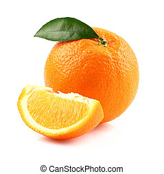 arancia, frutta, fetta, maturo