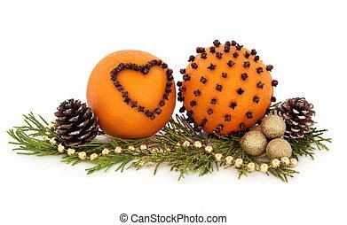arancia, frutta, pomander