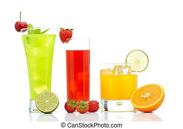 arancia, kiwi, fragola, succo