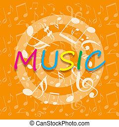 arancia, musica, fondo