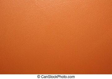 arancia, parete, vernice