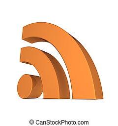 arancia, rss, -, lucido, segno