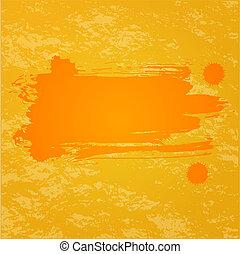 arancia, schizzo, fondo