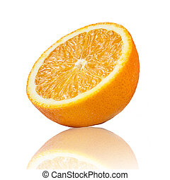 arancia, slice., frutta, succoso