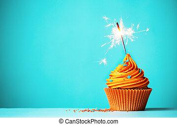 arancia, sparkler, cupcake
