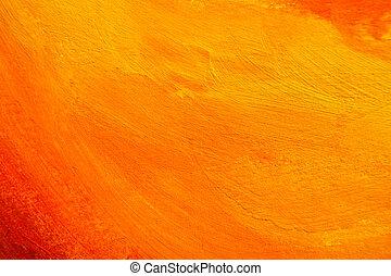 arancia, struttura, dipinto