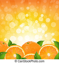 arancia, sunburst, fondo