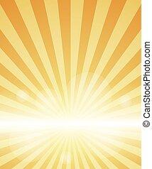 arancia, sunburst., fondo