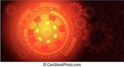 arancia, tecnologia, fondo