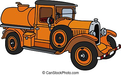 arancia, vendemmia, camion serbatoio