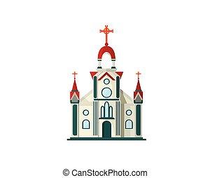 architettura, chiesa, antico, cristiano, illustrazione
