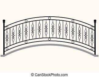 arco, ringhiera, ponte