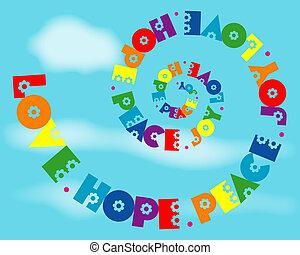 arcobaleno, amore, gioia, pace, spirale, speranza