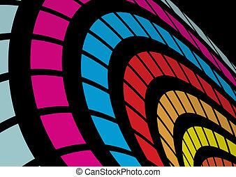 arcobaleno, astratto, arco