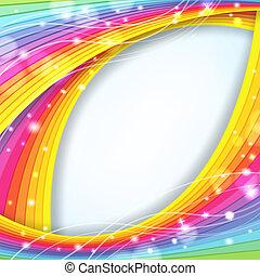 arcobaleno, astratto, colori, fondo, scintille