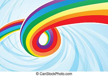 arcobaleno, astratto, flusso