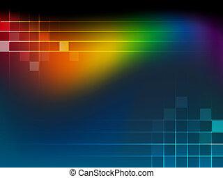 arcobaleno, astratto, fondo, wa