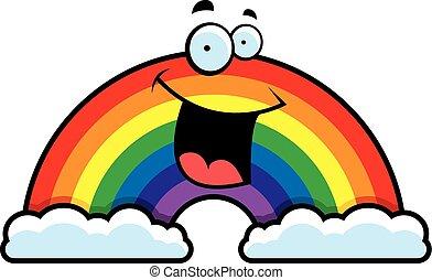 arcobaleno, cartone animato