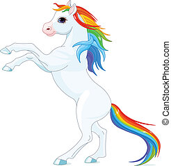 arcobaleno, cavallo