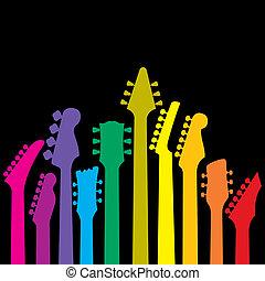 arcobaleno, chitarre