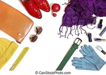 arcobaleno, clothing., collezione