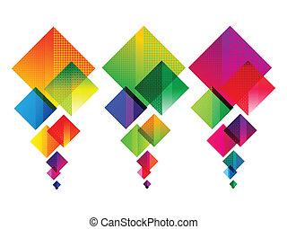 arcobaleno, colorito, astratto, multiplo