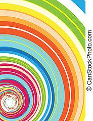 arcobaleno, colorito, spirale