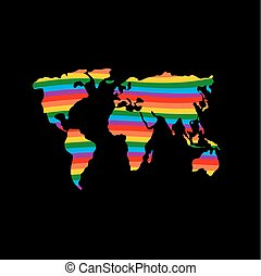arcobaleno, continente, gaio, bandiera, pianeta, lgbt, colori, earth.